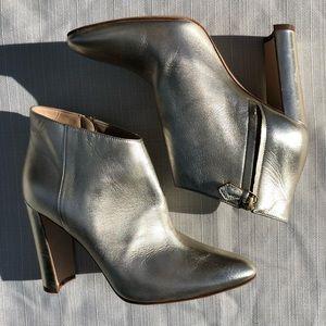 Manolo Blahnik metallic bootie -Worn on runway